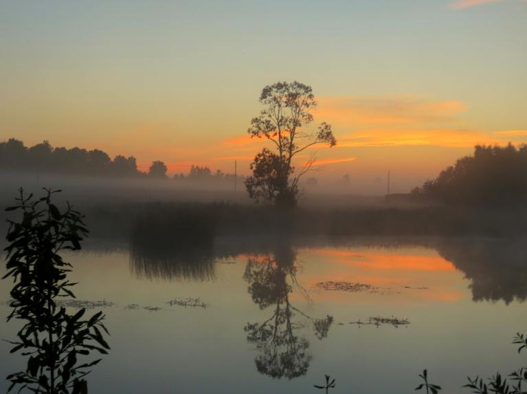 13. jūlija rīts, drīz lēks saule.