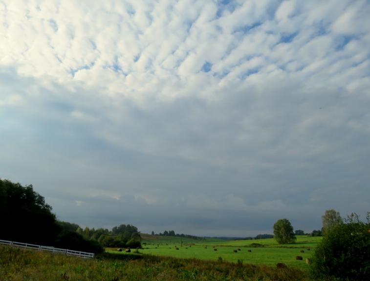 17. septembra rīta puse pēc aizejošiem lietus mākoņiem.