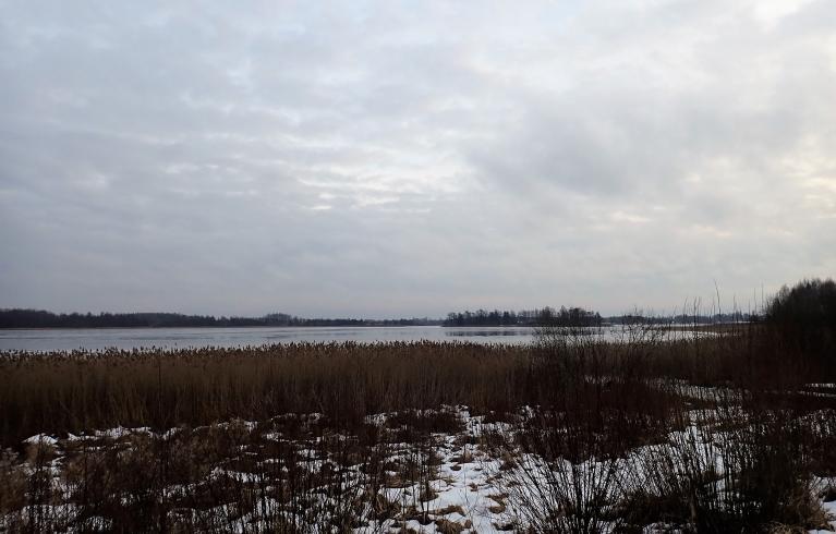 28. decembris. Viļakas ezers.