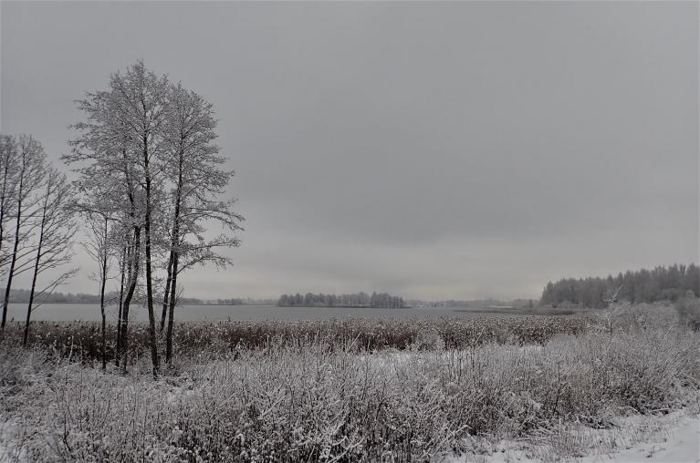 16. decembris. Viļakas ezers.