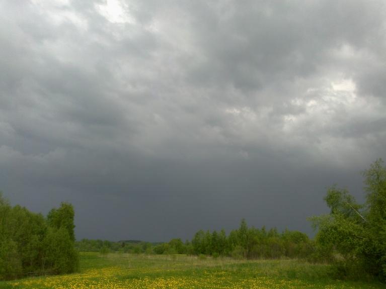 Autors: Normunds Negaiss. Vājš negaiss pirms galvenās frontes, Ludzas apkārtne, 16.05. 16. maijā Latgales pusē novēroju iespaidīgus negaisus. Sākumā ap 17 negaisu josla redzama austrumu virzienā, tā lēnām virzās uz ZR. Joslas dienvidu galā esošā šūn…