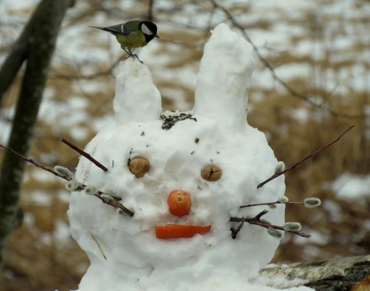 Lieldienām tuvojoties, tas pārtop par Lieldienu sniega zaķi :).
