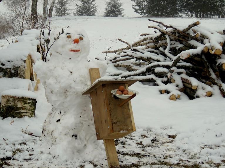 31. marta rītā top pēdējās ši pavasara sniegavīrs.
