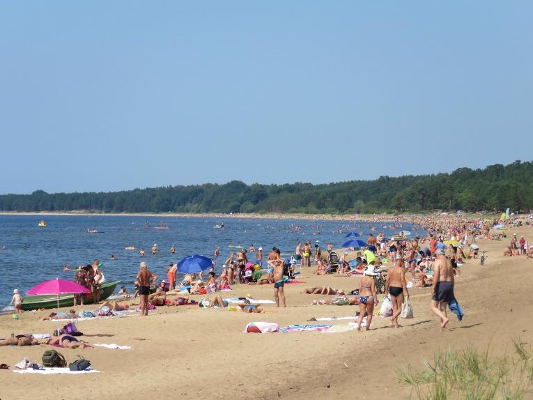 22. jūlija pēcpusdiena Saulkrastu pludmalē.