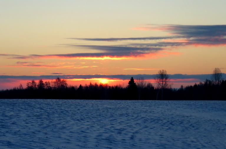 6. janvāra rīts, Allaži. Termometrā -13,6C