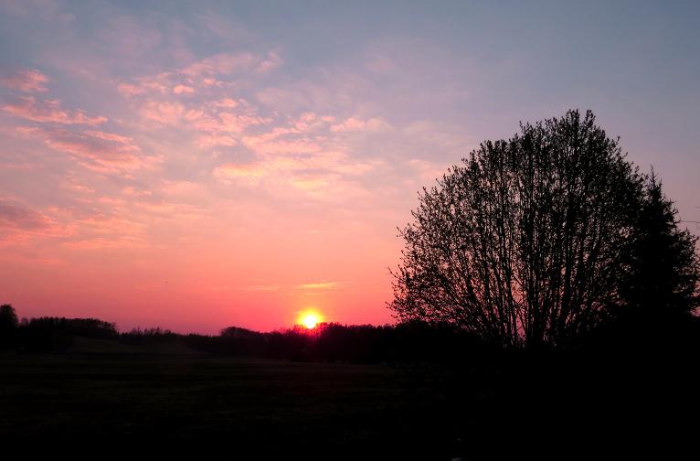22. aprīļa saulriets.