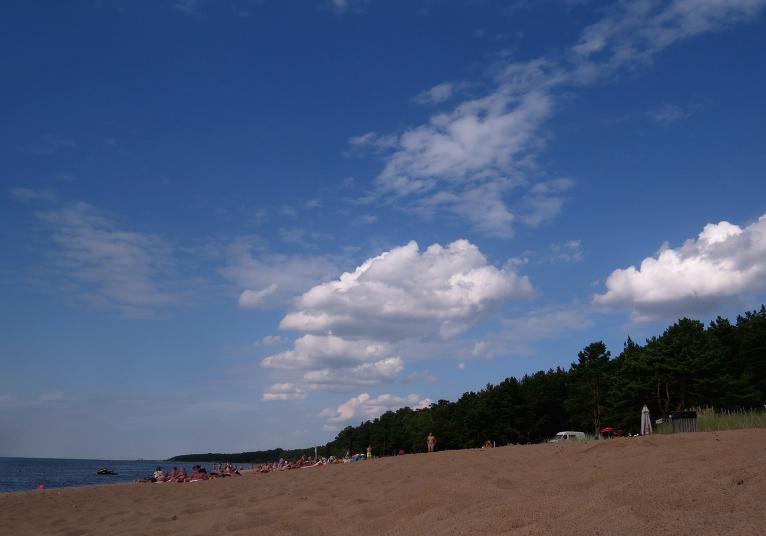 18. augusta pēcpusdiena Saulkrastu pludmalē