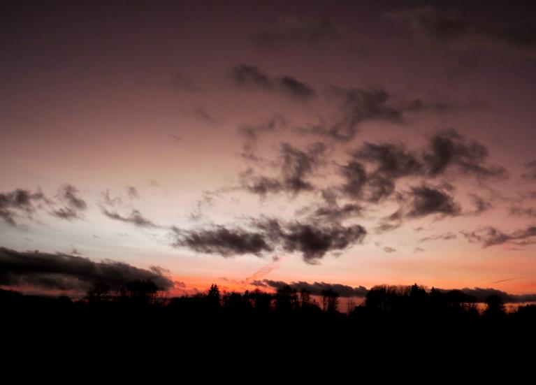 25. janvāra debesis pēc saulrieta.