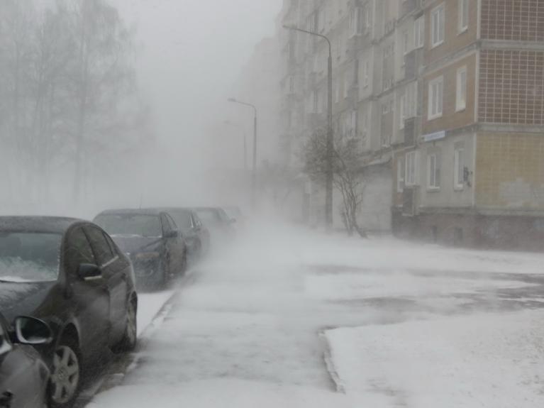 Marts. Sniegavētra Rīgā.