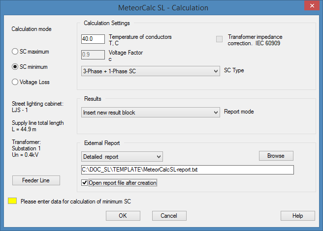 MeteorCalc SL - Distribution Panel Board Calculation