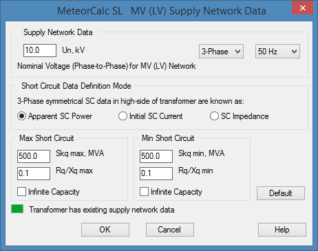 MeteorCalc SL - Supply Network Data
