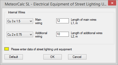 MeteorCalc SL - Wiring