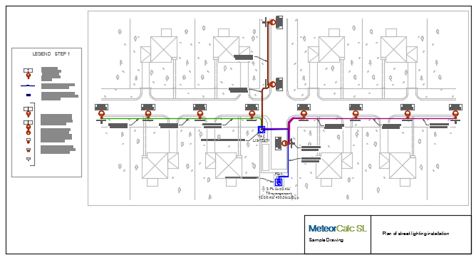 MeteorCalc SL - Step by step example #1. Street lighting