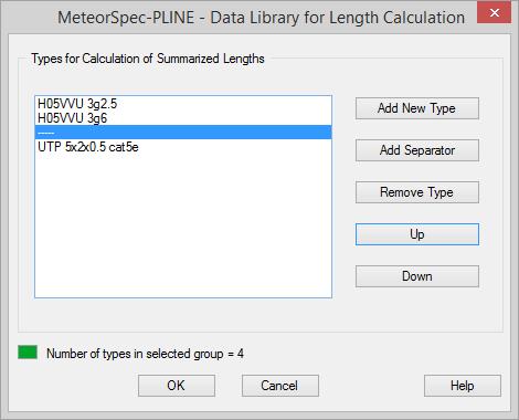 MeteorSpec LT - MeteorSpec-PLINE - Edit Data Library
