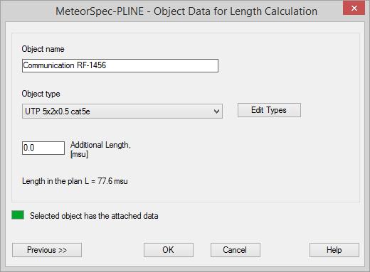 MeteorSpec LT - MeteorSpec-PLINE - Object Data