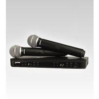Shure BLX288E/SM58   Sm58 Kapsüllü Çift Kanal El Tipi Telsiz Mikrofonlu Takım