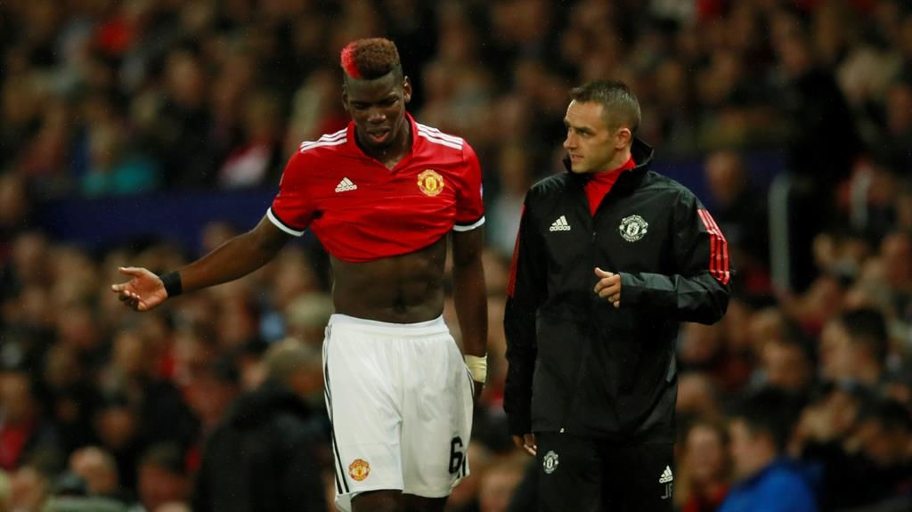 Jose Mourinho expects Manchester United to be without injured Paul Pogba for a 'few weeks'
