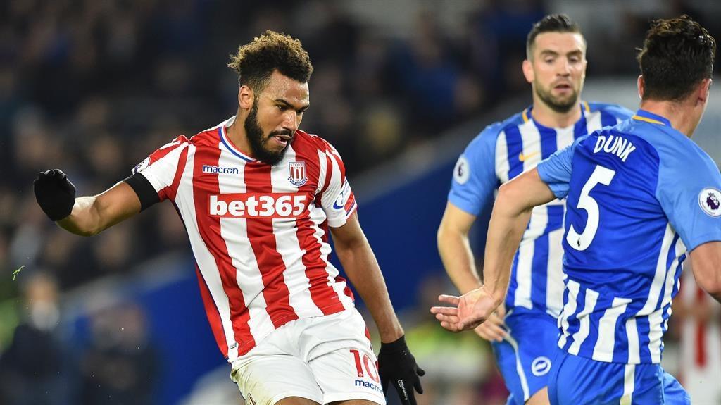 Brighton 2 - Stoke 2: Jose Izquierdo snatches draw for Seagulls but penalty shout denied