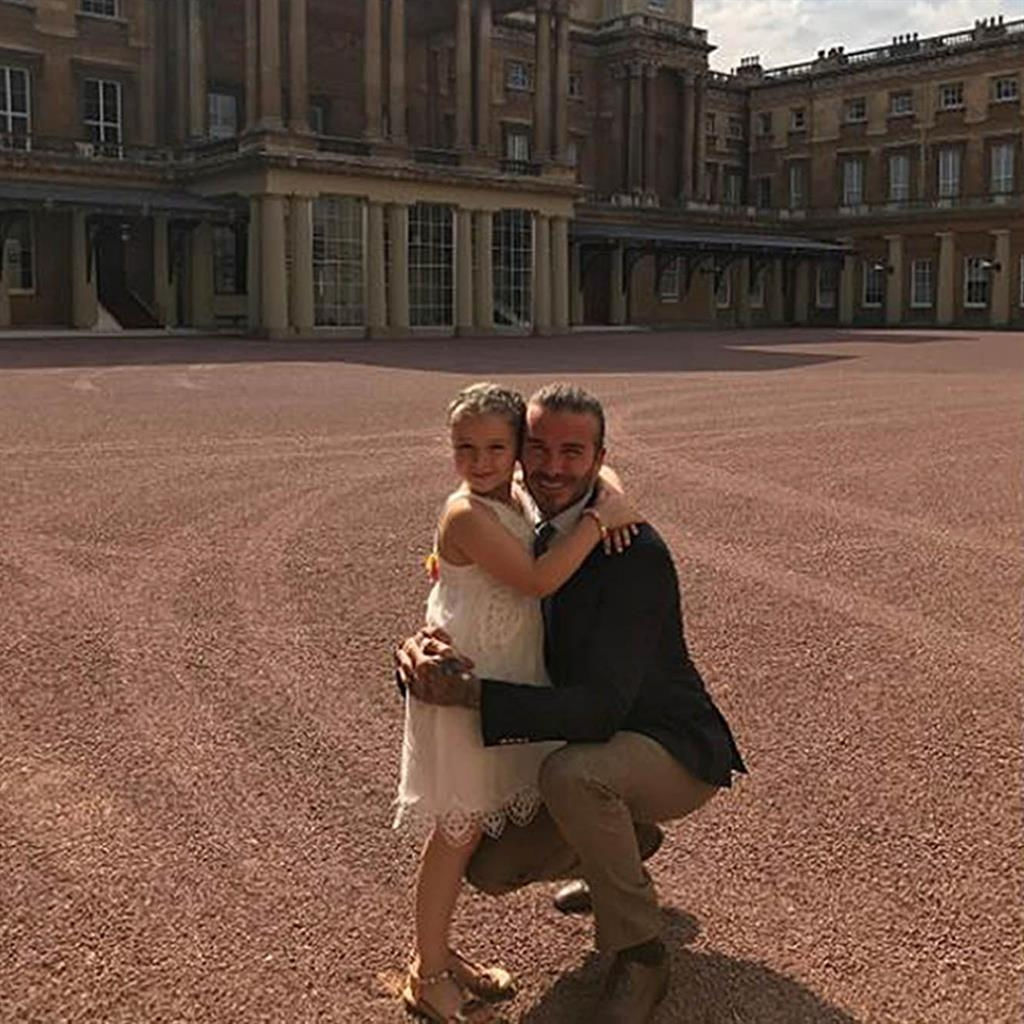 Controversy follows David Beckham's family visit at Buckingham Palace