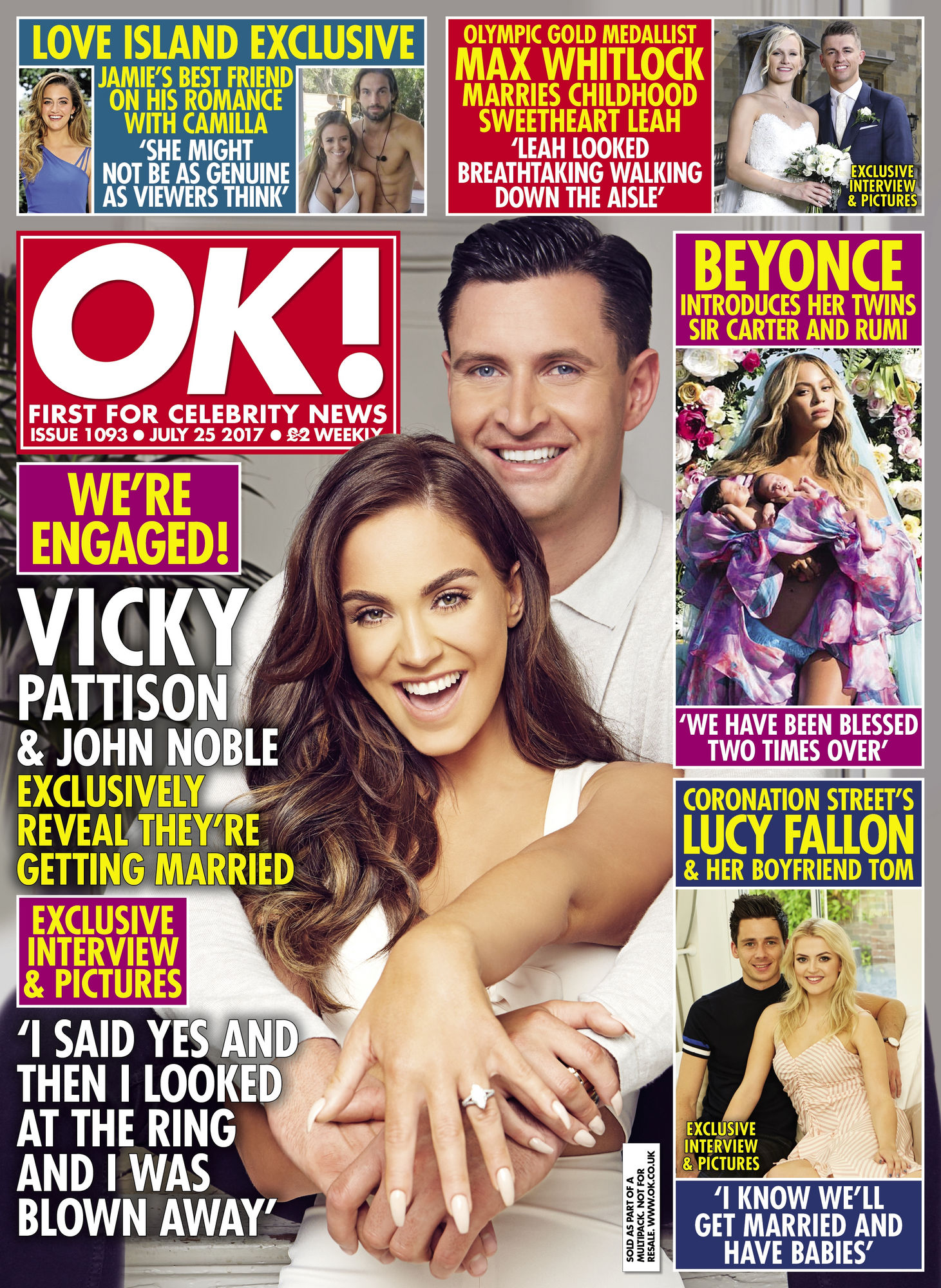 Vicky Pattison and John Noble