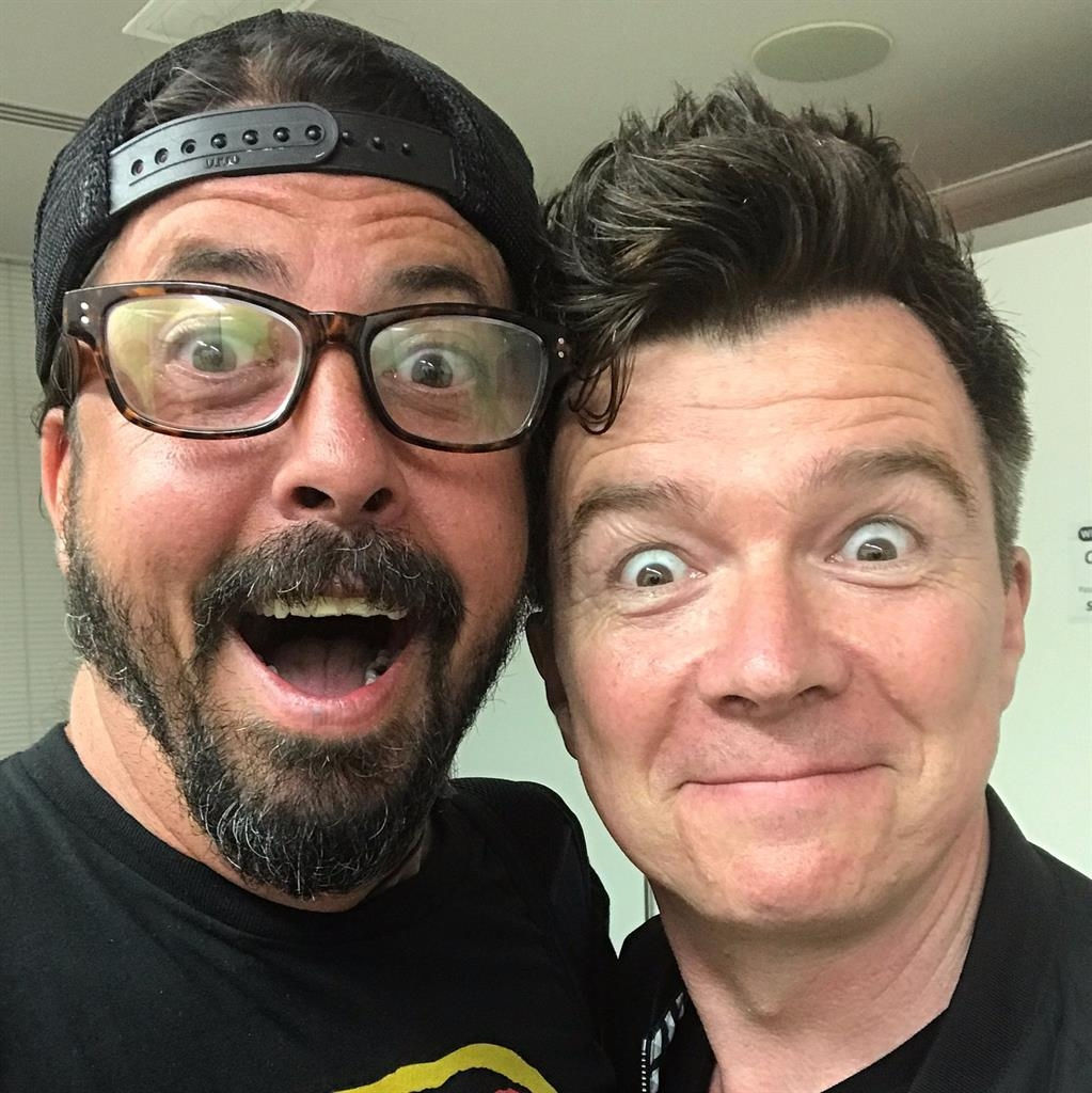 Foo Fighters Rickroll festival with the real Rick Astley