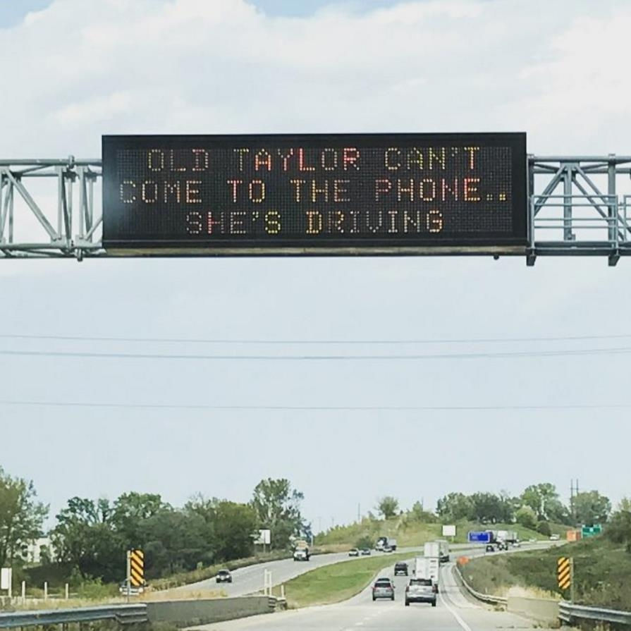 A Taylor Swift reminder about road safety