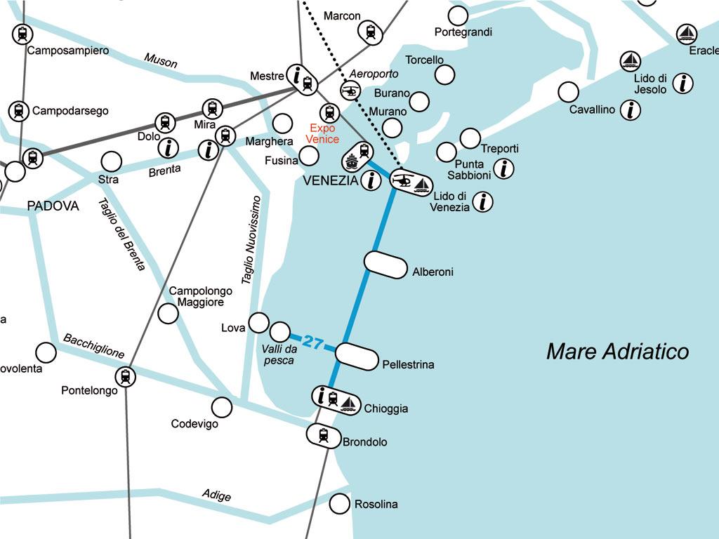 Laguna Sud di Venezia: Valli da pesca, Pallestrina, Chioggia