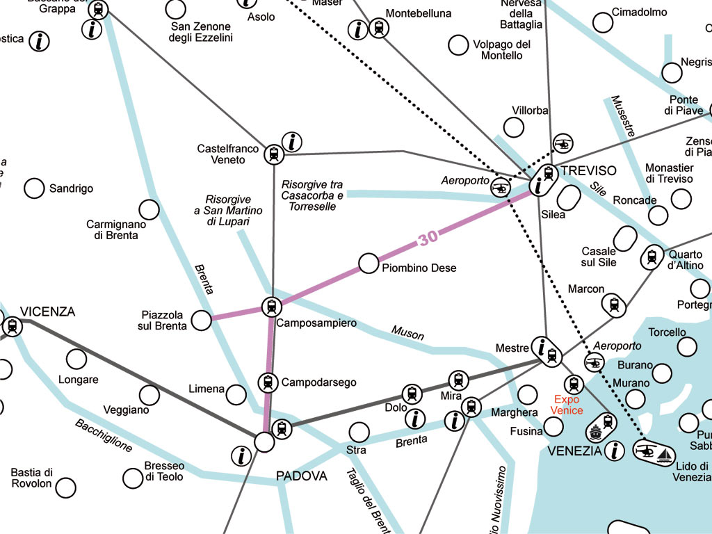 Verso l'Ostiglia - Padova - Treviso