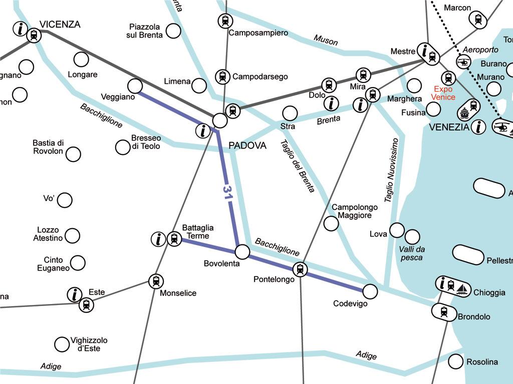Il Fiume Bacchiglione - Veggiano - Codevigo - Battaglia Terme