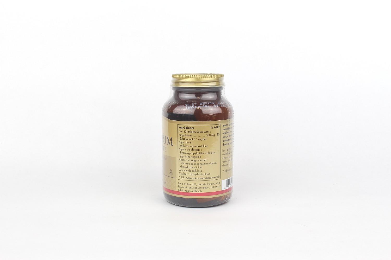 Magnésium bisglycinate - 100 comprimés de Solgar