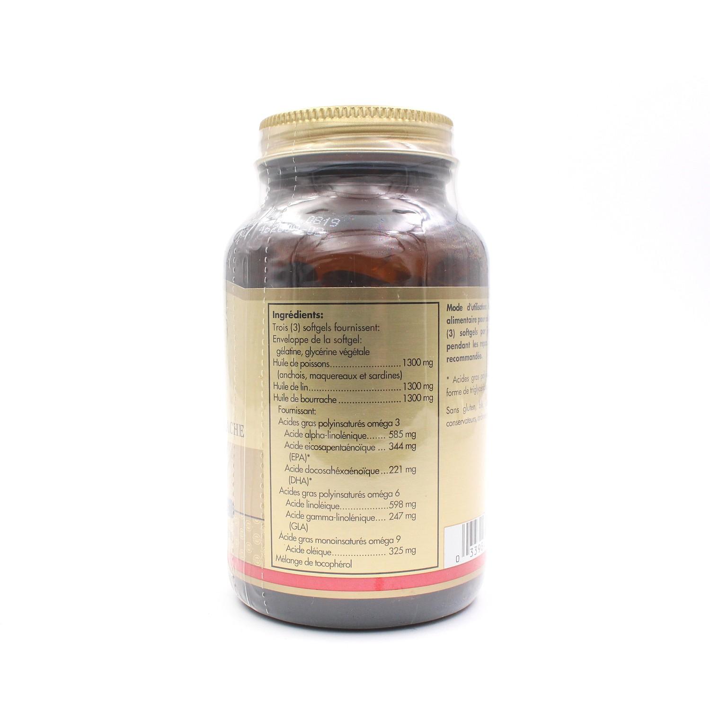 ebeed65d6eae Complément alimentaire Oméga 3-6-9 - 60 gélules de Solgar