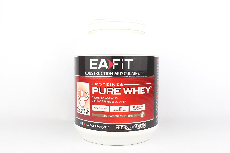 Protéines Pure Whey saveur café frappé - 750g de Eafit