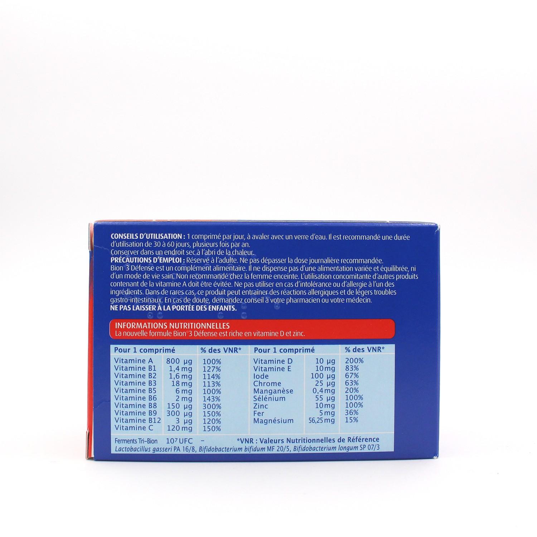 Bion 3 Defense Adulte 60 Comprimes De Bion