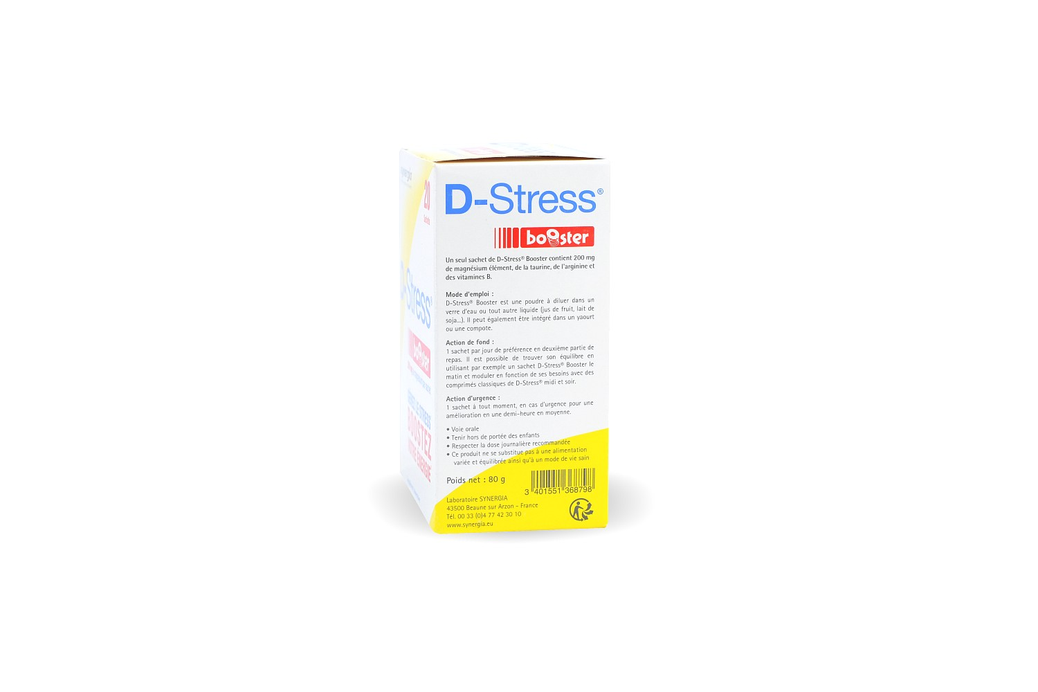 Synergia D-Stress Booster complément alimentaire - 20