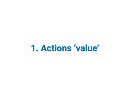 Actions 'value'