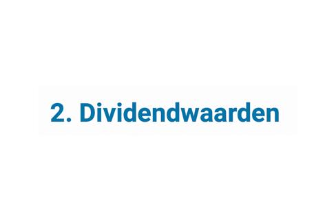 Dividendwaarden