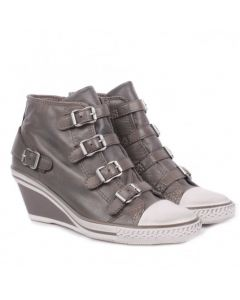 ASH Genial Perkish Leather Wedge Trainer