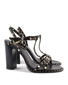 Ash Lips Black Stud Heel Sandal