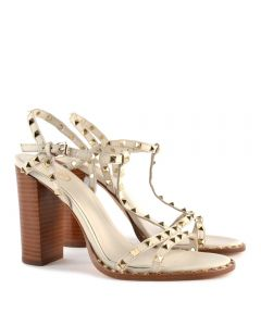 Ash Lips Ivory Stud Heel Sandal