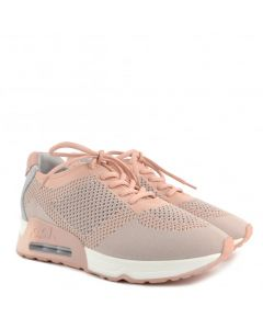 Ash Lucky Blush Pink Knit Trainer