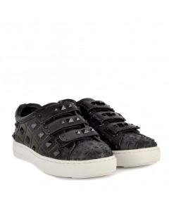 ASH Peace Black Studded Leather Trainers