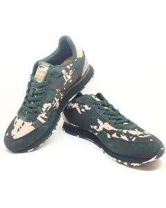 Woden Nora II Green Camouflage Trainer