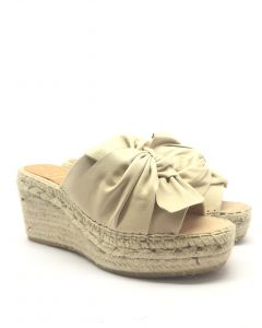 Kanna K1865 Beige Leather Wedge