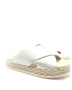 kanna K1848 Silver Flat Sandal