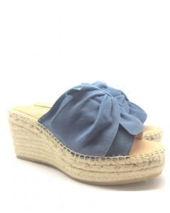 Kanna K1866 Blue Wedge Sandal
