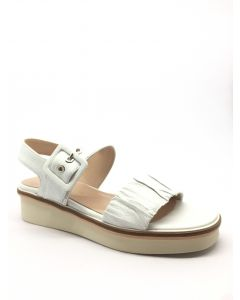 Pedro Anton 35617 White Flat Sandal