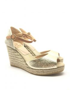 Kanna K1797 Gold Open-toe Wedge