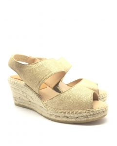 Kanna K1728 Gold Wedge Sandal