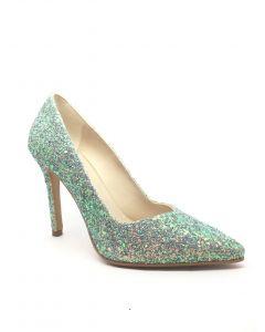 Lodi Vela Sunny Turquoise Glitter Heel