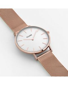 Cluse La Boheme Watch Rose Gold Mesh Rose Gold